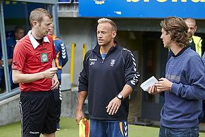 Ahron Thode, fysisktr�ner (Br�ndby IF), Thomas Frank, cheftr�ner (Br�ndby IF)