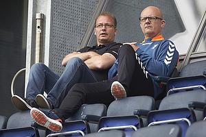 Tommy Sommer H�kansson, adm. direkt�r (Br�ndby IF), Per Rud, sportschef (Br�ndby IF)