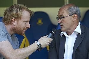 Andreas Kraul, journalist (DR), Ove Pedersen, cheftr�ner (FC Vestsj�lland)