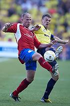 S�ren Berg (FC Vestsj�lland), Mikkel Thygesen, anf�rer (Br�ndby IF)