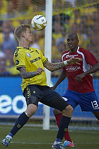 Simon Makienok Christoffersen (Br�ndby IF), Jean-Claude Bozga (FC Vestsj�lland)