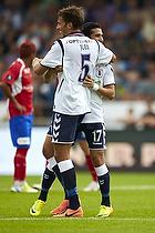 Osama Akharraz, m�lscorer (Agf), Lasse Nielsen (FC Vestsj�lland)