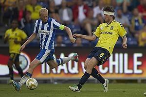 Hans Henrik Andreasen, anf�rer (Esbjerg fB), Martin �rnskov (Br�ndby IF)