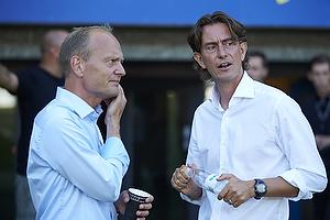 Niels Frederiksen, cheftr�ner (Esbjerg fB), Thomas Frank, cheftr�ner (Br�ndby IF)