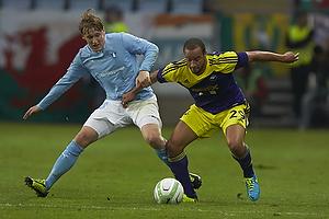 Emil Forsberg (Malm� FF), Ashley Richards (Swansea City FC)