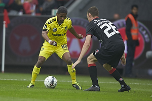 Quincy Antipas (Br�ndby IF), Patrick Banggaard Jensen (FC Midtjylland)