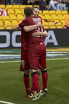 Morten Nordstrand, m�lscorer (FC Nordsj�lland), Mario Ticinovic (FC Nordsj�lland)