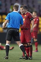 Nikolaj Stokholm, anf�rer (FC Nordsj�lland), Jakob Kehlet, dommer