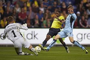 Quincy Antipas (Br�ndby IF), Mikkel Andersen (Randers FC), Anders Egholm (Randers FC)