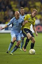 Christian Keller (Randers FC), Thomas Kahlenberg (Br�ndby IF)