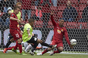 Martin Hansen (FC Nordsj�lland), Thiago Pinto Borges (FC Vestsj�lland), Patrick Mtiliga (FC Nordsj�lland)