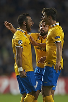 Fabio Quagliarella, m�lscorer (Juventus FC), Andrea Pirlo (Juventus FC), Federico Peluso (Juventus FC)