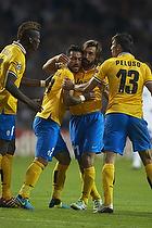 Fabio Quagliarella, m�lscorer (Juventus FC), Andrea Pirlo (Juventus FC), Federico Peluso (Juventus FC), Paul Pogba (Juventus FC)