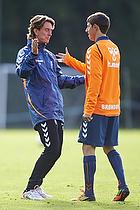 Thomas Frank, cheftr�ner (Br�ndby IF), Alexander Szymanowski (Br�ndby IF)