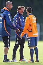 Claus N�rgaard, assistenttr�ner (Br�ndby IF), Thomas Frank, cheftr�ner (Br�ndby IF), Alexander Szymanowski (Br�ndby IF)