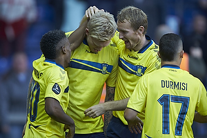 Simon Makienok Christoffersen, m�lscorer (Br�ndby IF), Thomas Kahlenberg (Br�ndby IF), Quincy Antipas (Br�ndby IF)