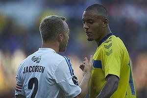 Lars Jacobsen, anf�rer (FC K�benhavn), Kenneth Zohore (Br�ndby IF)
