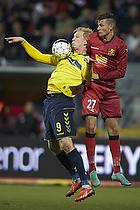 Simon Makienok Christoffersen (Br�ndby IF), Pascal Gregor (FC Nordsj�lland)