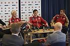 Morten Olsen, cheftr�ner (Danmark), William Kvist J�rgensen (Danmark), Daniel Agger (Danmark)