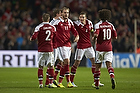 Nicklas Bendtner, m�lscorer (Danmark), Daniel Agger, anf�rer (Danmark), Niki Zimling (Danmark), Martin C. Braithwaite (Danmark)
