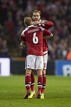 Nicklas Bendtner, m�lscorer (Danmark), Lars Jacobsen (Danmark)