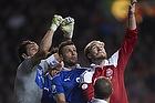 Gianluigi Buffon (Italien), Thiago Motta (Italien), Nicklas Bendtner (Danmark)
