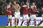 Nicklas Bendtner, m�lscorer (Danmark), William Kvist J�rgensen (Danmark), Nicolai Boilesen (Danmark), Daniel Agger, anf�rer (Danmark)