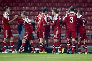 Daniel Agger, anf�rer (Danmark), Michael Krohn-Dehli (Danmark), William Kvist J�rgensen (Danmark), Emil Larsen (Danmark), Andreas Bjelland (Danmark)