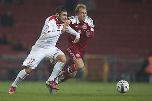 Christian Eriksen (Danmark), Ryan Camilleri (Malta)