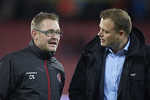 Claus Steinlein, direkt�r (FC Midtjylland), Jacob Nielsen, direkt�r (Randers FC)
