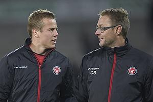Jeppe Curth (FC Midtjylland), Claus Steinlein, direkt�r (FC Midtjylland)