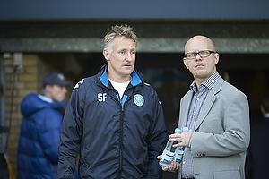 S�ren Frederiksen, assistenttr�ner (Viborg FF), Per Rud, sportschef (Br�ndby IF)