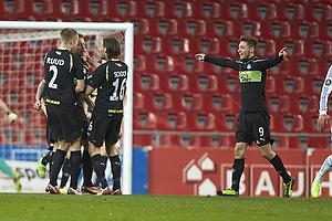 Martin Spelmann, m�lscorer (Ob), Lars Jacobsen (FC K�benhavn), Jacob Schoop (Ob), Rasmus Falk Jensen (Ob)