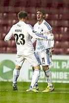 C�sar Santin, m�lscorer (FC K�benhavn), Marvin Pourie (FC K�benhavn)