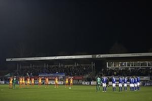 1. minuts stilhed p� Lyngby Stadion