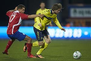 Marc Dal Hende (FC Vestsj�lland), Martin �rnskov (Br�ndby IF)