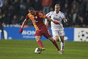 Burak Yılmaz (Galatasaray), Lars Jacobsen (FC K�benhavn)