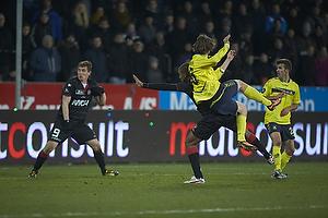 Martin �rnskov (Br�ndby IF) scorer med 6 minutter igen af kampen
