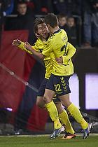 Martin �rnskov, m�lscorer (Br�ndby IF), Ferhan Hasani (Br�ndby IF)