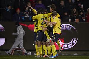 Martin �rnskov, m�lscorer (Br�ndby IF), Alexander Szymanowski (Br�ndby IF), Dario Dumic (Br�ndby IF), Thomas Kahlenberg (Br�ndby IF)