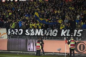 Br�ndbyfans med protest banner