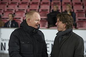 Glen Riddersholm, cheftr�ner (FC Midtjylland), Thomas Frank, cheftr�ner (Br�ndby IF)