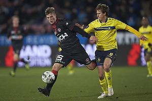 Frederik M�ller (FC Midtjylland), Alexander Szymanowski (Br�ndby IF)