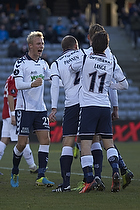 S�ren Larsen, m�lscorer (Agf), Jesper Lange (Agf), Petri Pasanen (Agf), Anders Kure (Agf)