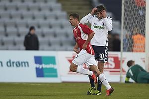 Marc Dal Hende, m�lscorer (FC Vestsj�lland), David Devdariani (Agf)