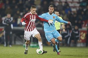 Kasper Risg�rd (Aab), Kim Aabech (FC Nordsj�lland)