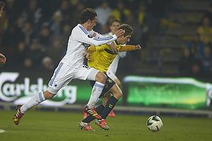 Thomas Delaney, anf�rer (FC K�benhavn), Alexander Szymanowski (Br�ndby IF)