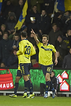 Dario Dumic (Br�ndby IF), Ferhan Hasani, m�lscorer (Br�ndby IF)
