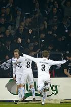 Nicolai J�rgensen, m�lscorer (FC K�benhavn), Thomas Delaney (FC K�benhavn), Pierre Bengtsson (FC K�benhavn)