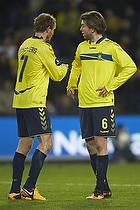 Thomas Kahlenberg (Br�ndby IF) giver anf�rerbindet til Martin �rnskov (Br�ndby IF)